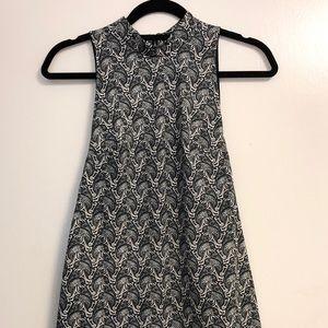 Topshop A-line Paisley Dress